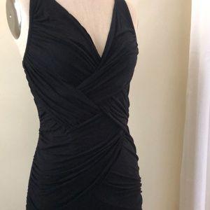Free People Black Wrap Dress - L/G